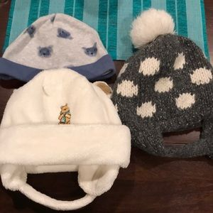 EUC infant/toddler beanies